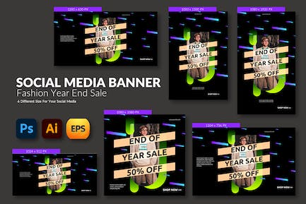 Year End Sale – Social Media Banner Template