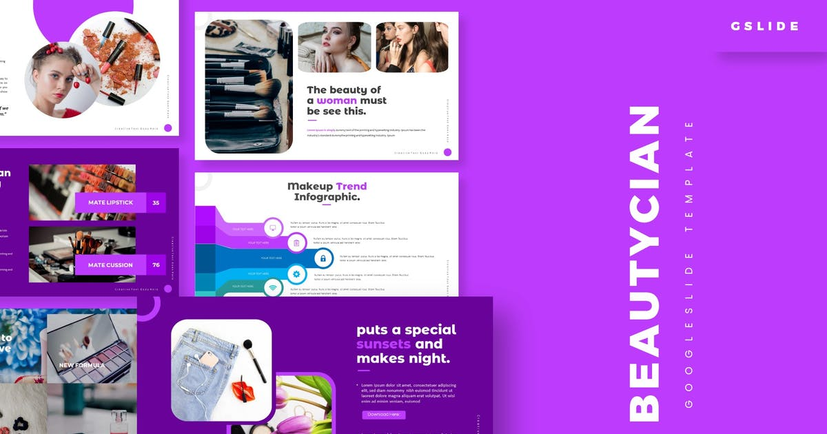 Download Beautician - Google Slides Template by aqrstudio