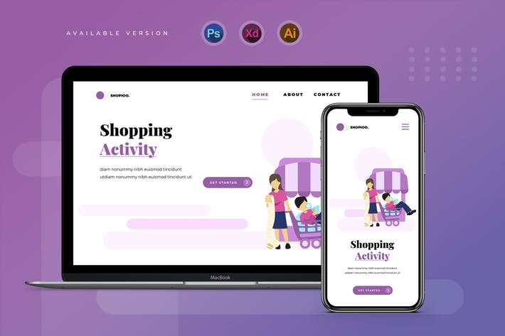 Shopping Activity - Banner & Landing Page