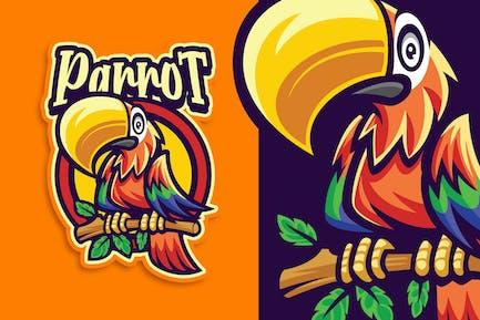 Parrot Mascot Character Logo Template
