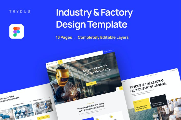 Trydus - Industry & Factory Website Template
