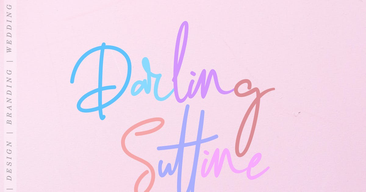 Download Darling Suttine | Signature Font by aldedesign