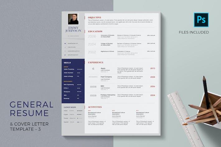 Thumbnail for Modèle de CV général et lettre de motivation