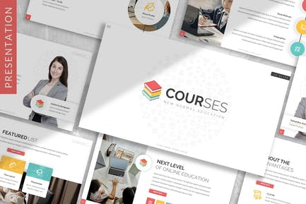 Courses - Education Prensentation Template