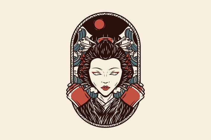 Thumbnail for Vintage Geisha Illustration