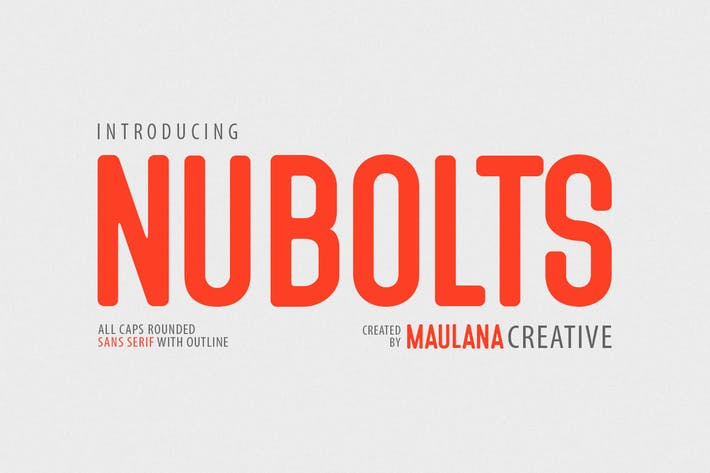 Thumbnail for Nubolts Rounded Sans Family Font