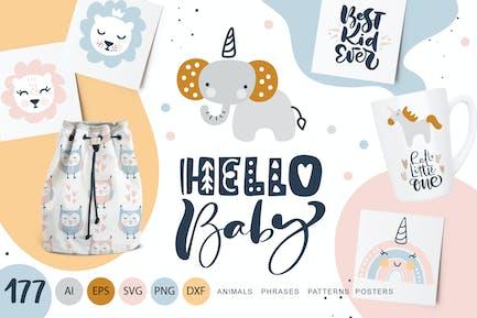Hello Bébé animaux & calligraphie