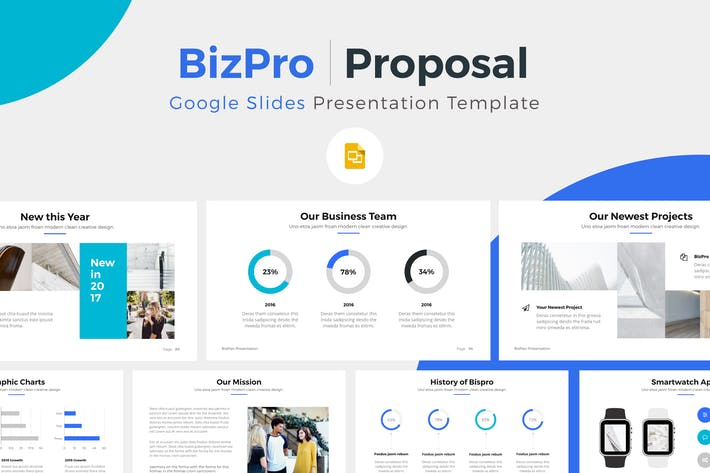 bizpro google slide presentation template by pixasquare on envato