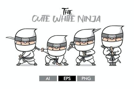 Der süße weiße Ninja