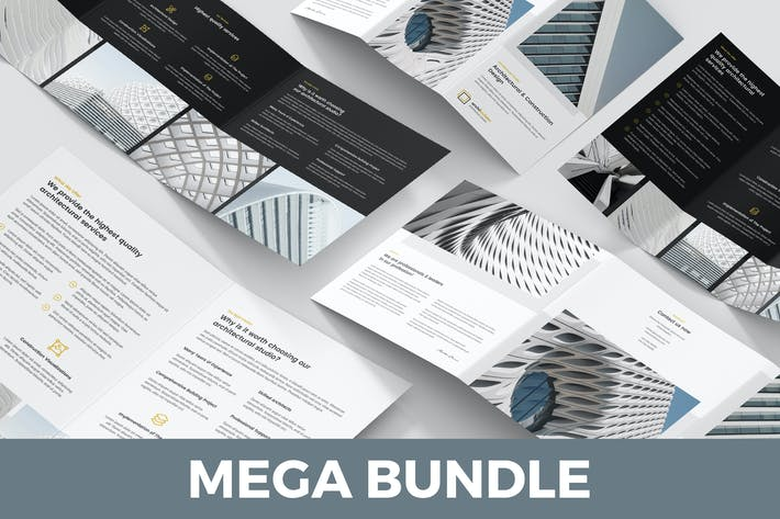 Cover Image For Architect – Brochures Bundle 5 in 1