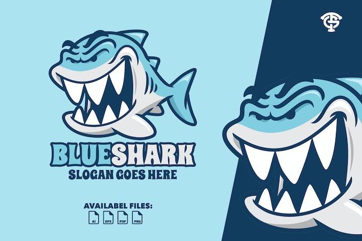 Thumbnail for Blue Shark - Logo Mascot