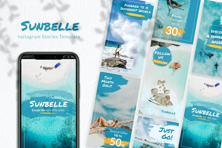 Thumbnail for Sunbelle Instagram Story Template