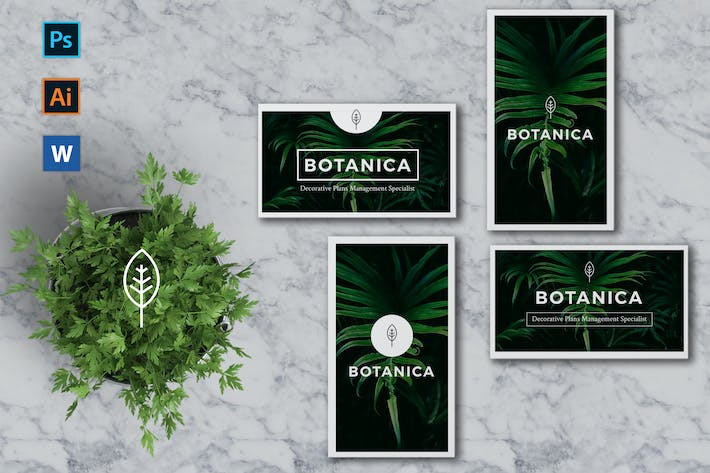Cover Image For BOTANICA Business Card Template