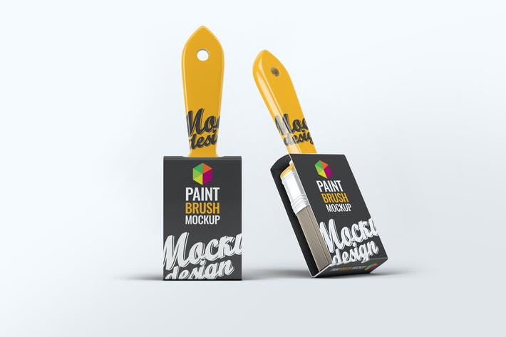 Cover Image For Paint Brush Mock-Up