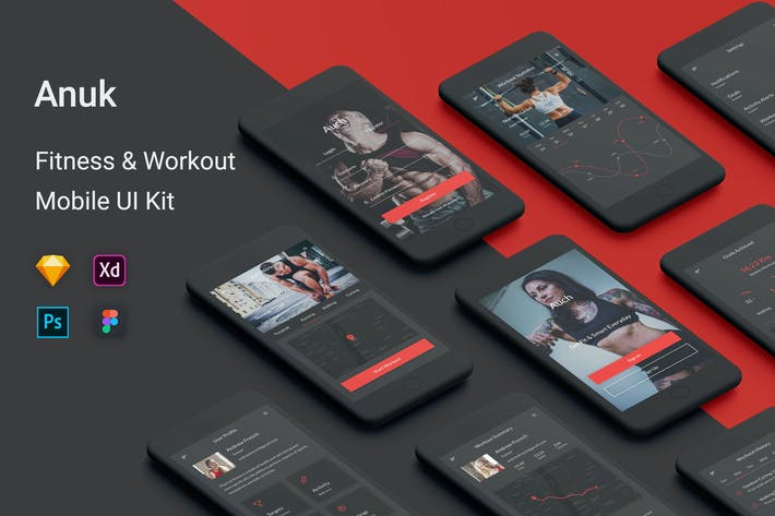 Thumbnail for Anuk - Fitness & Workout UI Kit