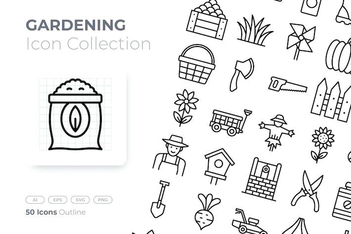 Thumbnail for Gardening Outline Icon