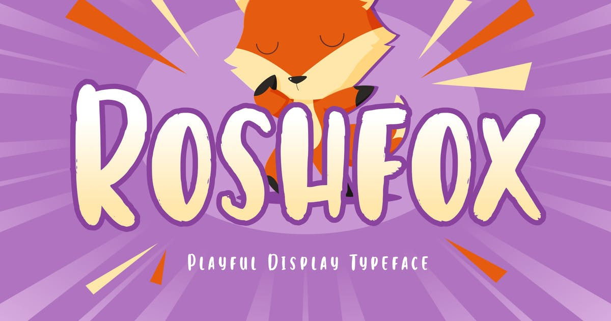 Download Roshfox Playful Display Typeface by RahardiCreative