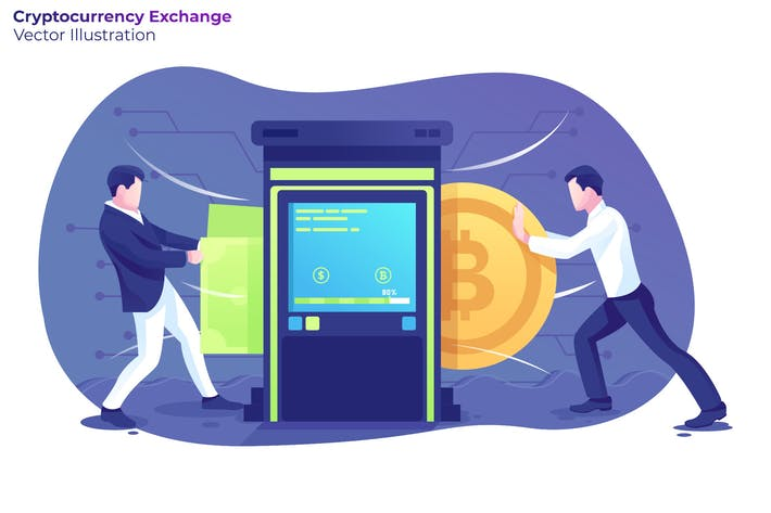 Thumbnail for Cryptocurrency Exchange - Vector Illustration