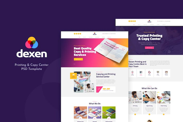 Thumbnail for Dexen - Printing and Copy Center PSD Template