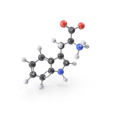 Molécula de triptófano Zwitterion