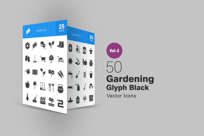 Thumbnail for 50 Gardening Glyph Icons