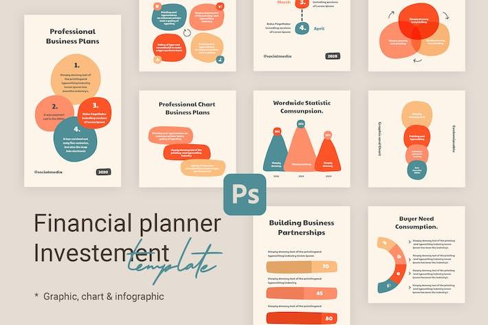 Thumbnail for Diagramme und Diagramme Instagram-Vorlagen für Finanzen V2