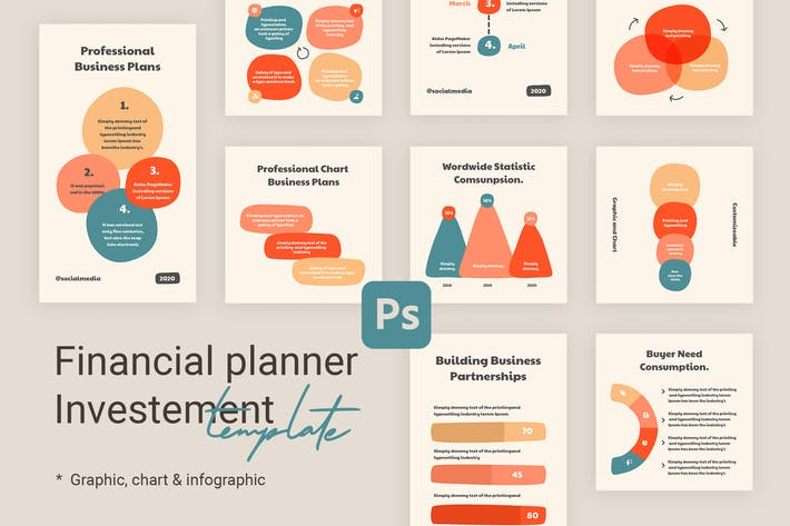 Thumbnail for Charts & Graphs Instagram Templates for Finance V2