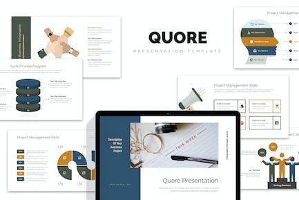 Quore: Infografía Vector Negocios Powerpoint