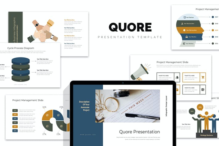 Thumbnail for Quore : Vector Infographic Business Powerpoint