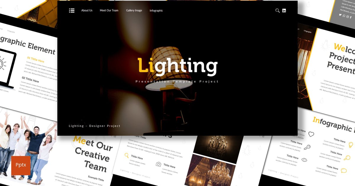 Download Lighting - Powerpoint Template by inspirasign