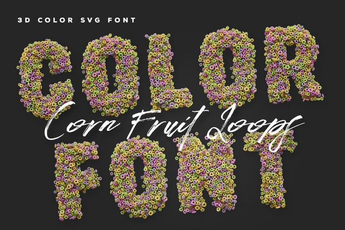 Thumbnail for Corn Fruit Loops Color Fonts