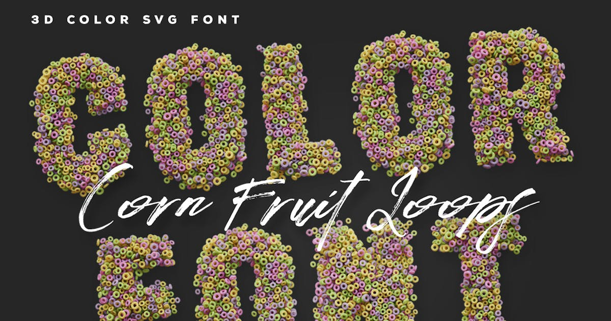 Download Corn Fruit Loops Color Fonts by cruzine