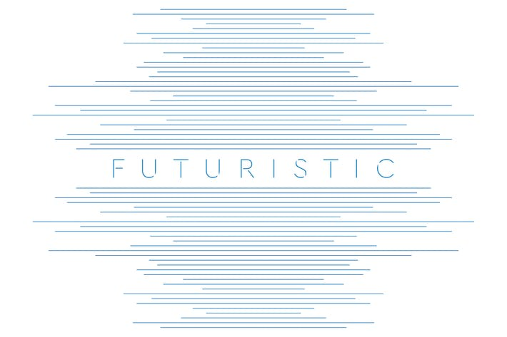 Thumbnail for Blue lines abstract futuristic tech background