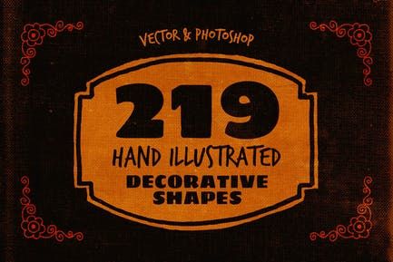 219 Hand Drawn Decorative Shapes