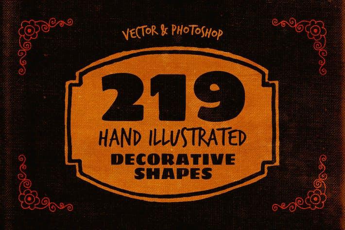 Thumbnail for 219 Hand Drawn Decorative Shapes