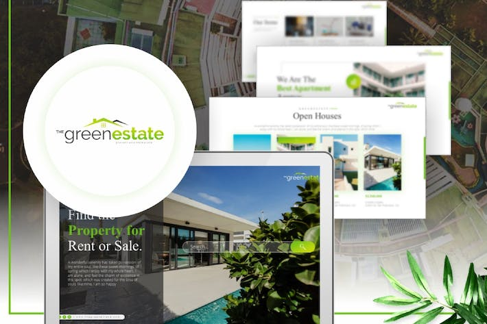 Thumbnail for Greenestate - Real Estate PowerPoint Template