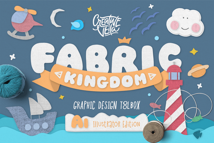 Cover Image For Fabric Kingdom Illustrator Edition