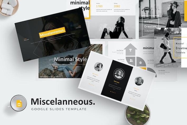 Thumbnail for Misscelanneous - Google Slides Template