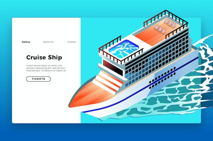 Thumbnail for Круизный корабль - Баннер и посадочная страница