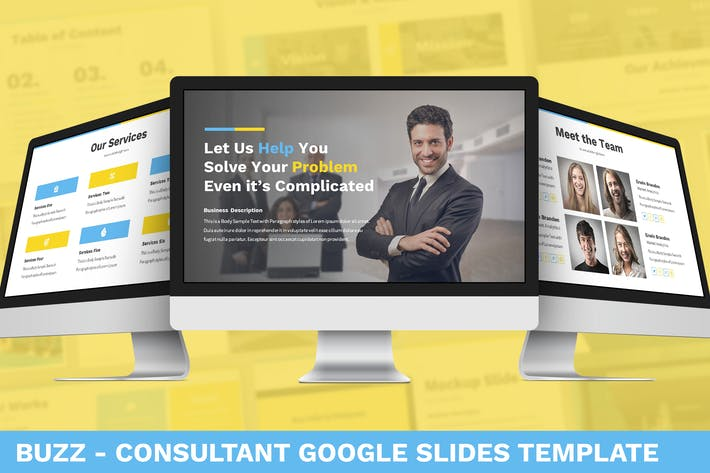 Thumbnail for Buzz - Consultant Google Slides Template