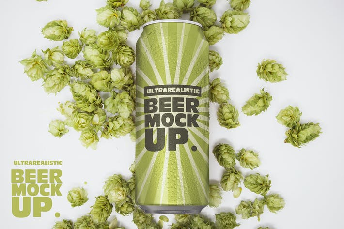 Thumbnail for 16oz Beer Can Mockup