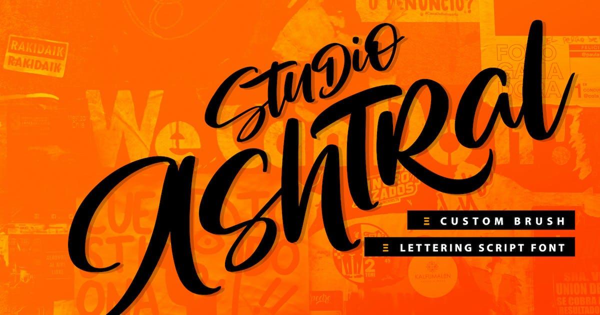 Download Studio Ashtral | Brush Lettering Script Font by Vunira