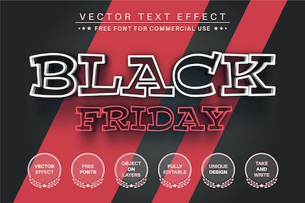 Black Friday -  Editable Text Effect, Font Style