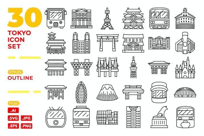 Thumbnail for Tokyo Icon Set (Outline)