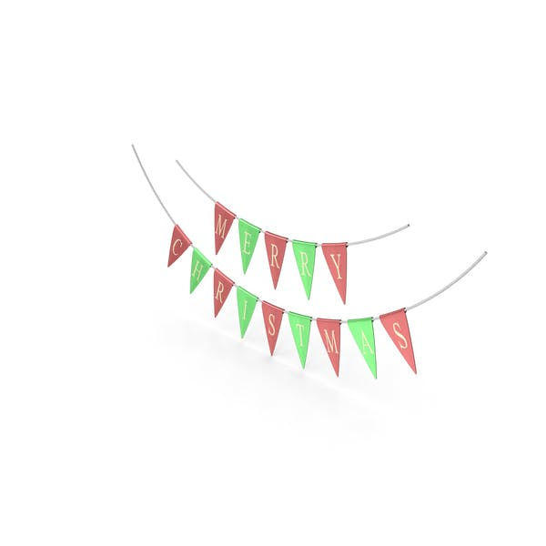 Thumbnail for Red and Green Merry Christmas Garland