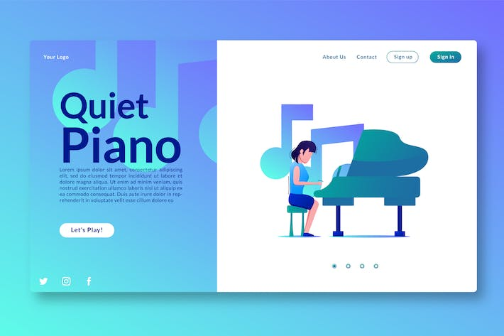 Thumbnail for Quiet Piano - Landing Page GR
