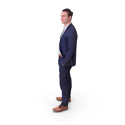 Man Posed In Suit