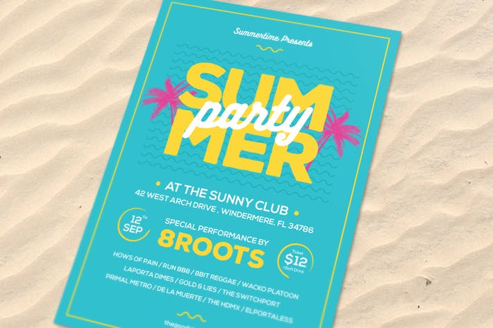 Thumbnail for Summer Party Flyer