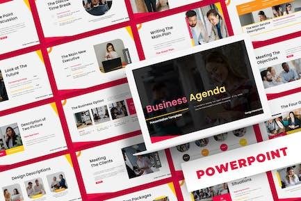 Бизнес-повестка дня - Шаблон Powerpoint