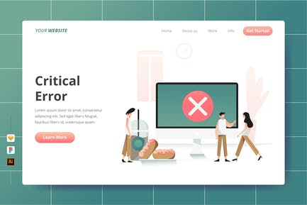 Critical Error - Landing Page